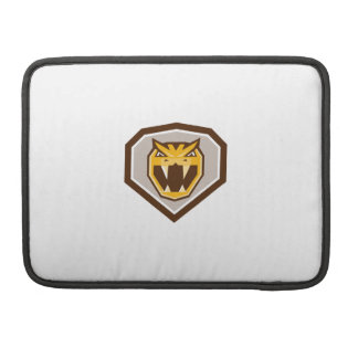 Angry Horned Viper Crest Retro MacBook Pro Sleeves