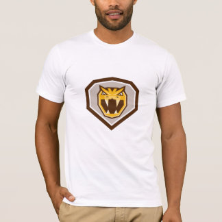 Angry Horned Viper Crest Retro T-Shirt