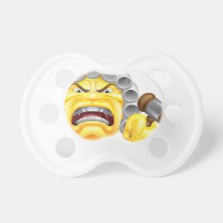 Angry Judge Emoji Emoticon Pacifier