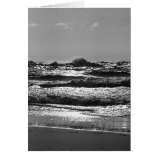 Angry Lake Michigan Grayscale Card