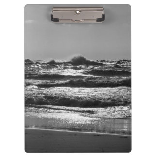 Angry Lake Michigan Grayscale Clipboard