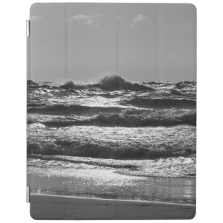 Angry Lake Michigan Grayscale iPad Cover