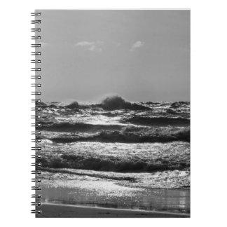 Angry Lake Michigan Grayscale Notebooks