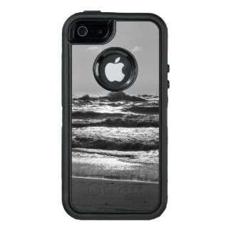 Angry Lake Michigan Grayscale OtterBox Defender iPhone Case