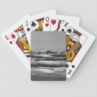 Angry Lake Michigan Grayscale Playing Cards