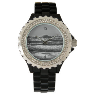 Angry Lake Michigan Grayscale Watch