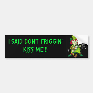 Angry Leprechaun Bumper Sticker