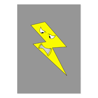 Angry Lightning. Yellow on Gray. Business Card Templates