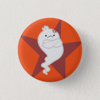 Angry little ghost 1 inch round button