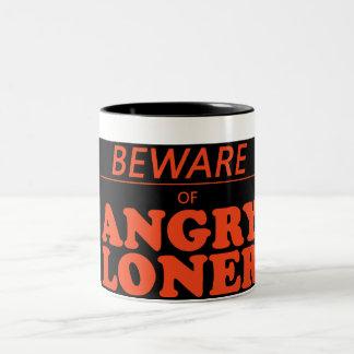 angry loner Two-Tone mug