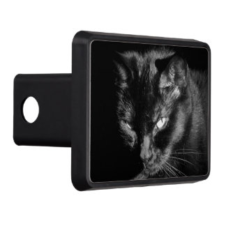 Angry Looking Black Cat Trailer Hitch Cover