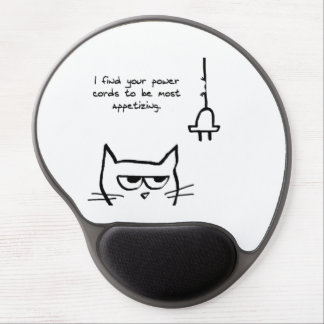 Angry Loves to Chew Your Power Cords Gel Mouse Pad