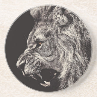 Angry Male Lion Coaster