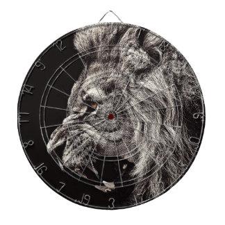 Angry Male Lion Dartboard