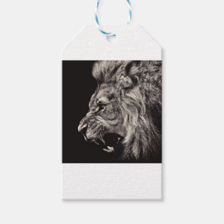 Angry Male Lion Gift Tags