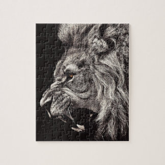 Angry Male Lion Jigsaw Puzzle