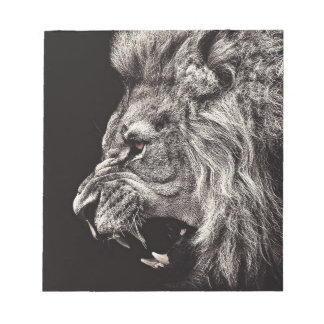 Angry Male Lion Notepad