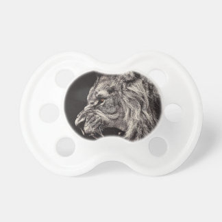 Angry Male Lion Pacifier