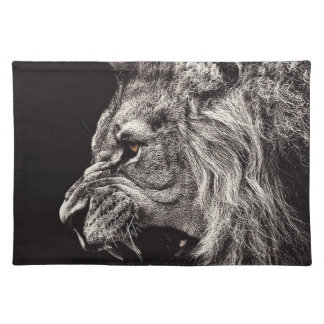 Angry Male Lion Placemat