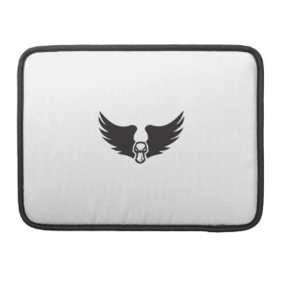 Angry Mallard Duck Head Wings Retro Sleeve For MacBooks