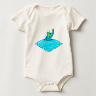 Angry Martian Baby Bodysuit