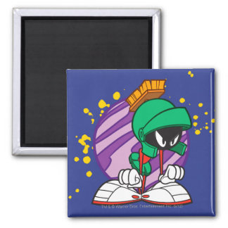Angry Marvin Square Magnet
