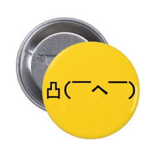 Angry Middle Finger Emoticon Japanese Kaomoji 2 Inch Round Button