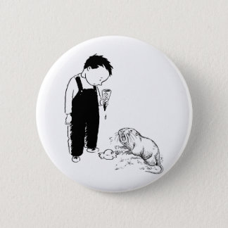 Angry Moles Eat Ice Cream Too 2 Inch Round Button