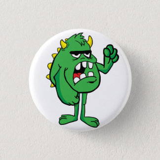 angry monster 1 inch round button