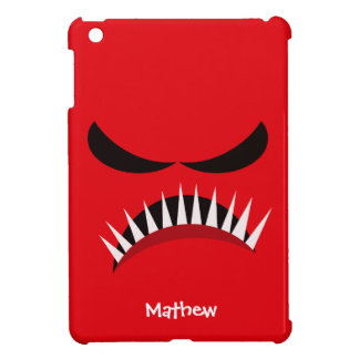 Angry Monster With Evil Eyes and Sharp Teeth Red Cover For The iPad Mini