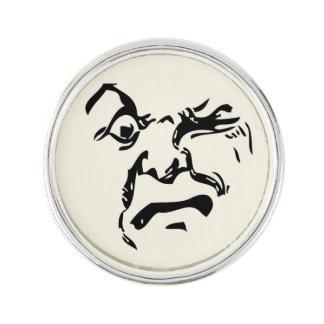 ANGRY MOON LAPEL PIN