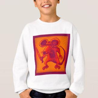 angry mouse holds knife funny cartoon sweatshirt