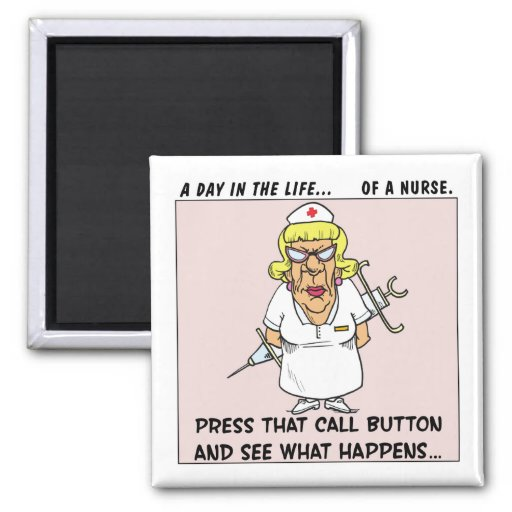 Angry Nurse Threatens Patients with Large Needle Refrigerator Magnet
