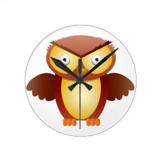 angry owl wallclocks