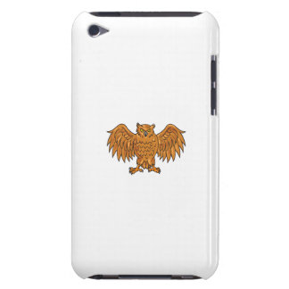 Angry Owl Wings Spread Drawing Barely There iPod Cover