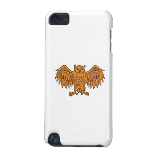 Angry Owl Wings Spread Drawing iPod Touch 5G Case