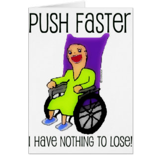 Angry Patient in Wheelchair Greeting Card