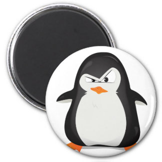 Angry Penguin 2 Inch Round Magnet