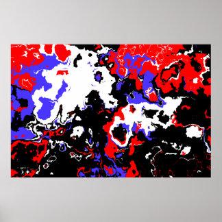 Angry Pig Abstract Art Print