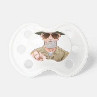 Angry Pointing Drill Sergeant Baby Pacifiers