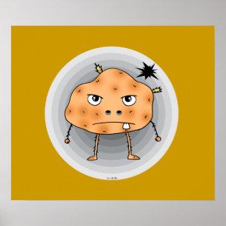 Angry potato poster