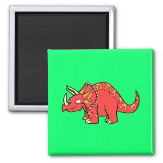 Angry Red Triceratops - Dinosaur-gifts.com Magnet