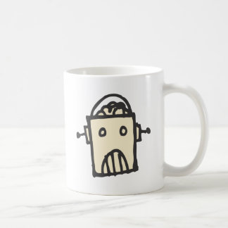 Angry Robot with Brain Coffee Mug