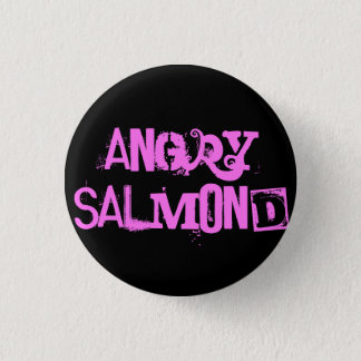 Angry Salmond 1 Inch Round Button