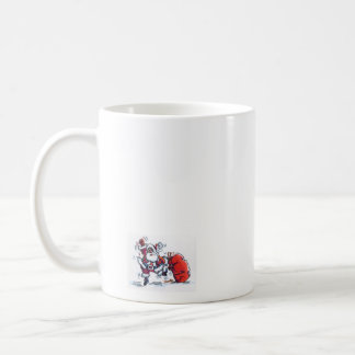 Angry Santa small right hand coffee mug