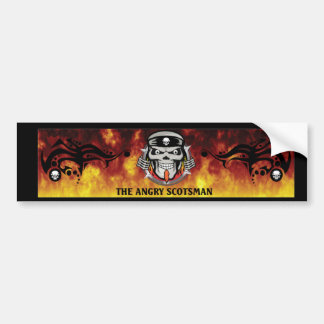 Angry-Scotsman-Sticker Bumper Sticker