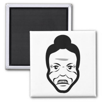 Angry Senior Fridge Magnet