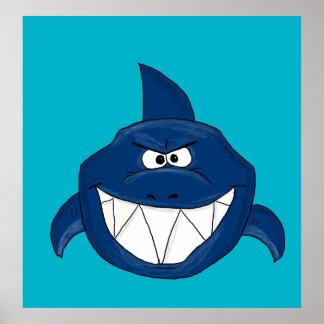 Angry shark poster