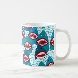 Angry Sharks Coffee Mug