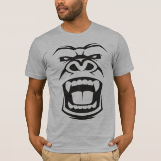 Angry Silverback Gorilla: Aggressive Alpha Primate T-Shirt